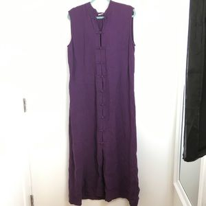 Eileen Fisher purple vest dress long L or Xl